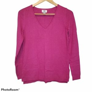 3 for $25 Old Navy Fuscia pink sweater small